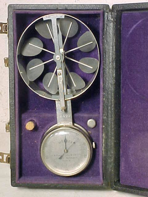 71: Anemometer by Jules Richard, Paris, in case