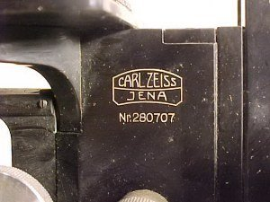 88: Carl Zeiss Jena microscope # 280707, stereo-optic, - 3