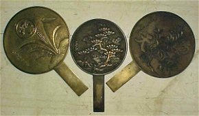 162: Lot 3 Japanese Bronze mirrors