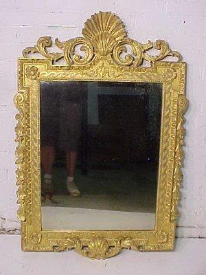 101: George II giltwood & gesso mirror
