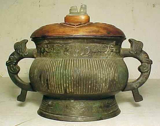 107: Oriental bronze bowl, early 17th Century