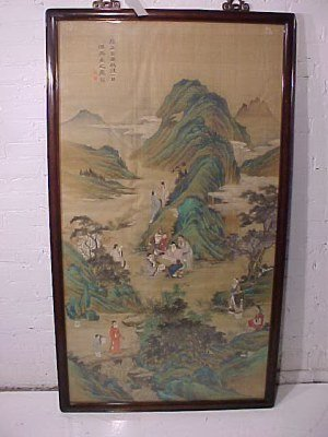 111: 18th Century painting on silk, Chinese