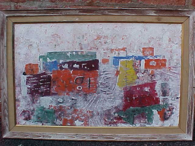 """116: O/B, """"the Dock"""", sgd. Arnold Blanch, 17"""" by 27"""""""