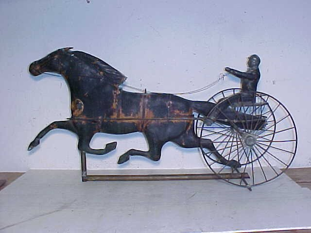 102: 19th Century trotter weathervane