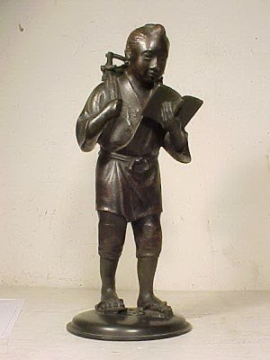 117: Japanese bronze figure