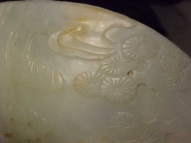 167: Carved Jade piece, carved with figures - 5