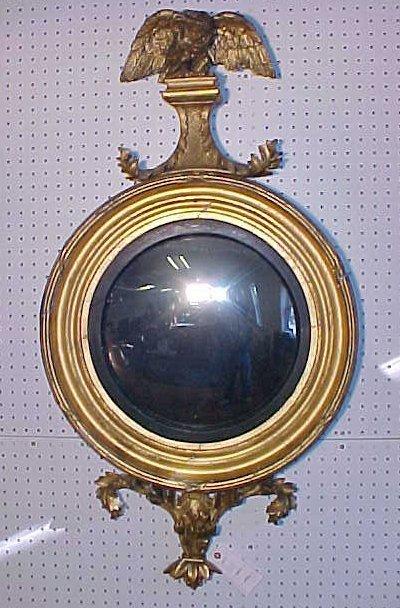 Girandole mirror with eagle