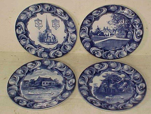 Set 4 Royal Doulton Dutchess County historical plates