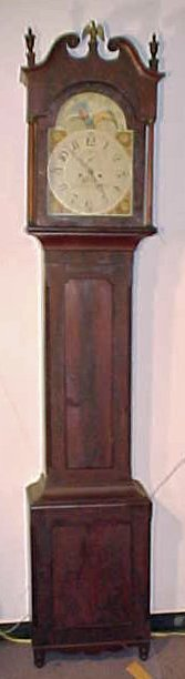 Grandfather clock by George Eberman, Lancaster no. 13