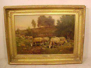 O/C, sheep grazing, Thomas Bigelow Craig