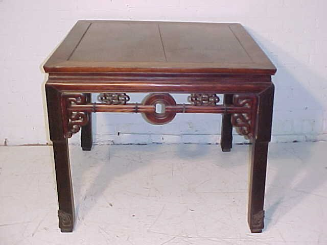 Chinese table, carved skirt