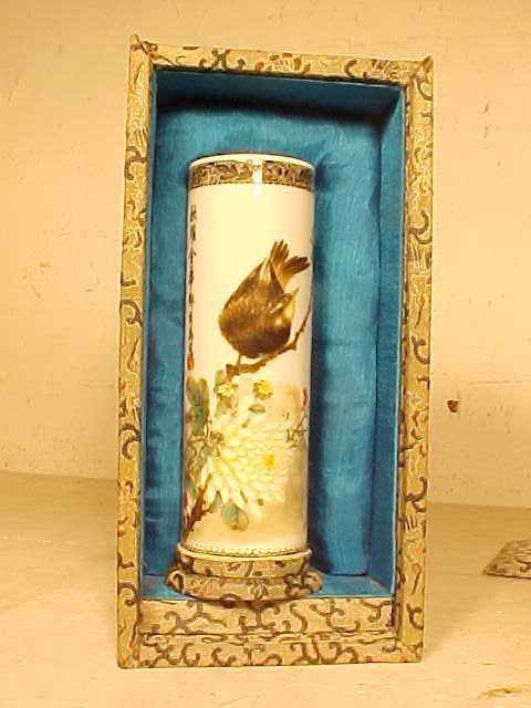 Chinese vase with bird decoration