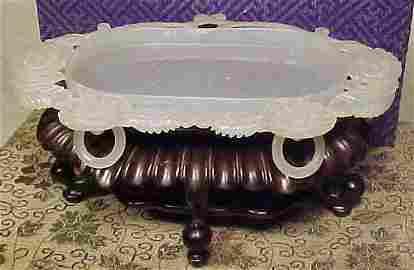 Finely carved Chinese jade dish