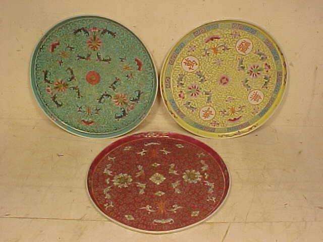 3 Chinese ceramic plates