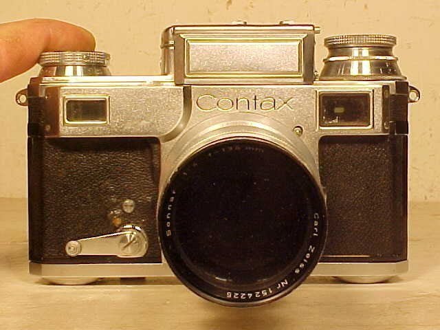 Zeiss Ikon Contax, lens by Zeiss.