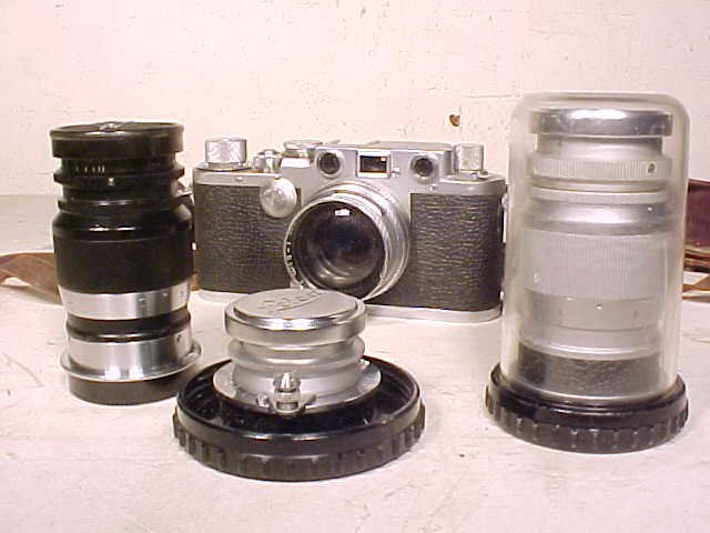 Leica IIIf with 3 lenses, serial 627958