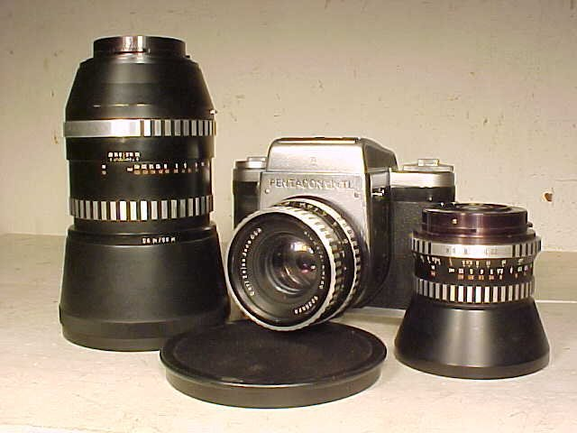 Pentacon Six TL with 2 extra lenses
