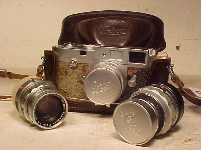 Leica M2 camera, with 2 extra lenses