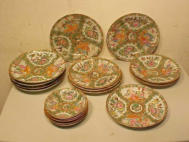 Lot 7 Rose medallion plates
