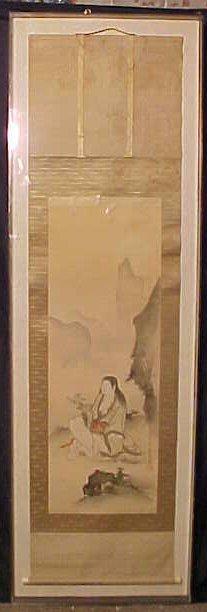 Japanese scroll, Bamboo, original Hoen, Tokyo 1900