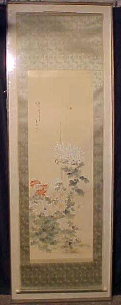 Japanese scroll, Kiku, Fery original, Tokyo 1890
