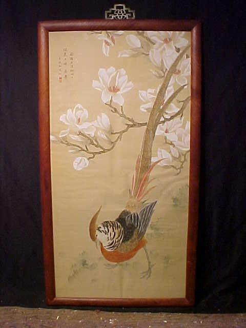 Asian watercolor, pheasant