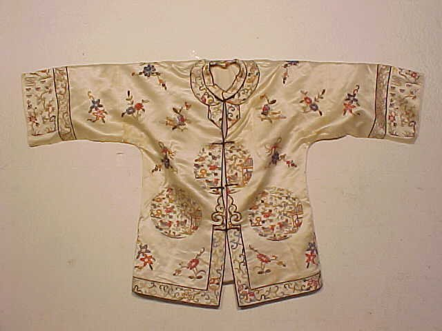Vintage Chinese embroidered silk jacket