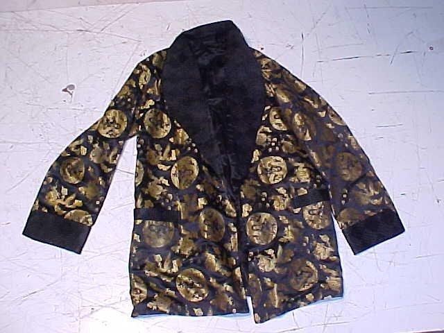 Vintage Chinese silk black & gold jacket