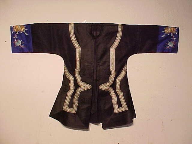 Black embroidered vintage Chinese jacket.