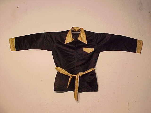 Black Chinese jacket with gold trim
