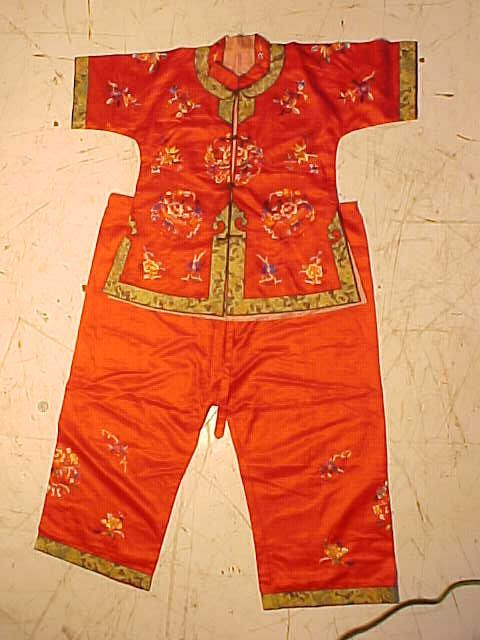 Vintage Chinese child's shirt & pants