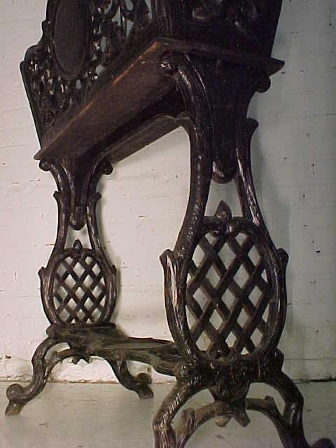 Black forest planter, rustic carved base - 10