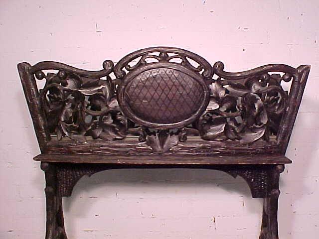 Black forest planter, rustic carved base - 3