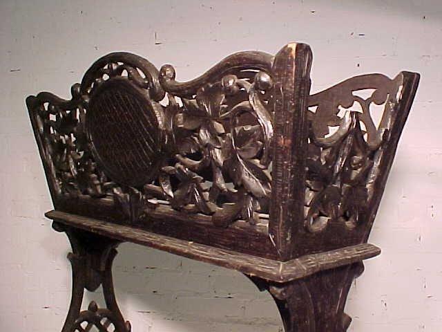 Black forest planter, rustic carved base - 4