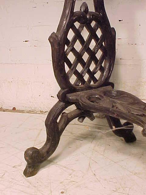 Black forest planter, rustic carved base - 5
