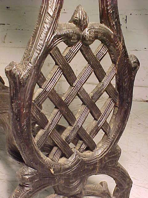 Black forest planter, rustic carved base - 6