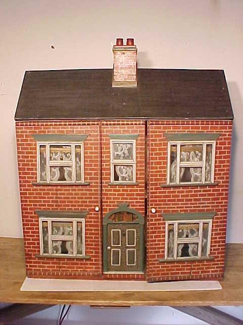 Large dollhouse, paint decorated