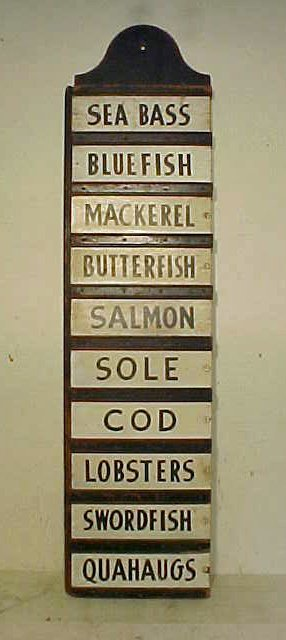 Fish monger sign