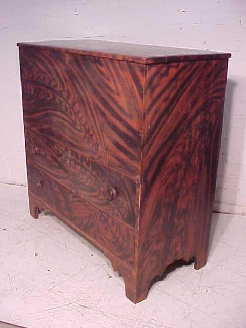 Lift top blanket chest in original paint - 5