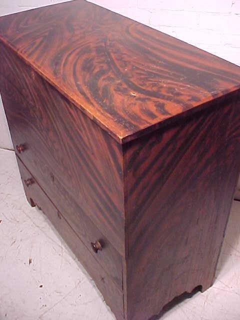 Lift top blanket chest in original paint - 6