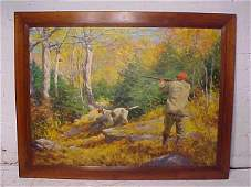 O/C, illustration, hunter, sgd. Anton Otto Fischer
