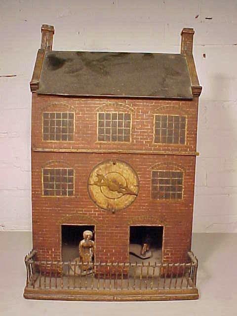 Folk house, barometer, 2 figures