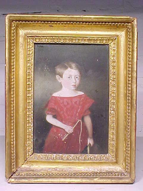 "O/B, small portrait girl, 7.5"" by 5.25"""