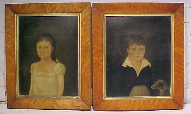 Early American portraits, Marblehead, Mass.