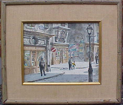 WC, Parisian scene, signed Henry Gasser