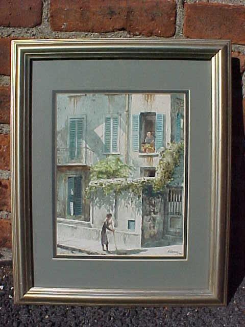 Watercolor, Parisian scene, signed Henry Gasser