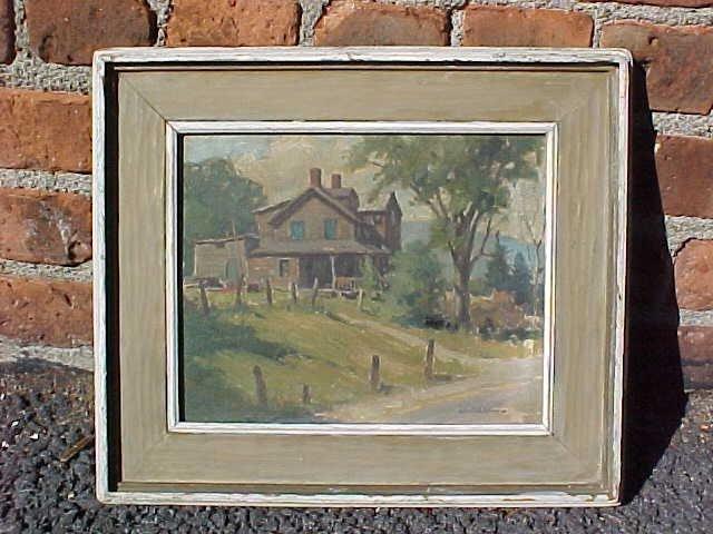 O/CB, House near E-Town, sgd. Junius Allen NA 1951