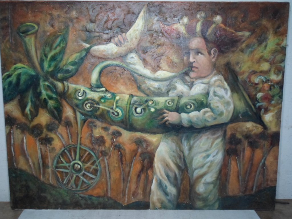 "Pedro Ruig (Cuban) Oil ""El Rapto"""