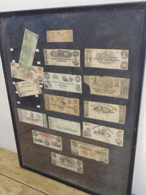 Lot Confederate currency notes, 16 count