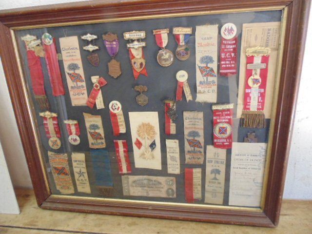 Collection of Confederate ribbons & medals